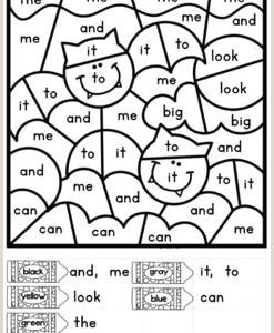 Free Halloween Color by Number Worksheets