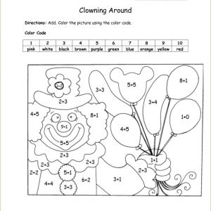 Free Printable Color by Number Worksheets for 3rd Grade