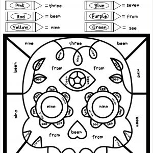 Free Printable Color by Number Worksheets Pdf