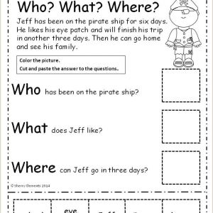 Free Printable Reading Comprehension Worksheets for Kindergarten