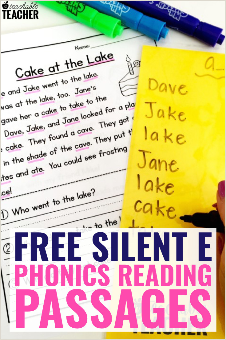 Free Printable Reading Worksheets For Kindergarten And First Grade
