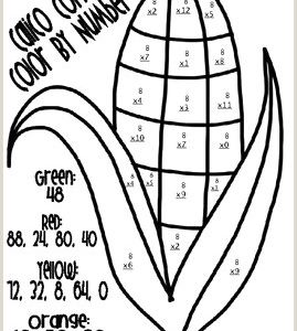 Free Printable Thanksgiving Color by Number Worksheets