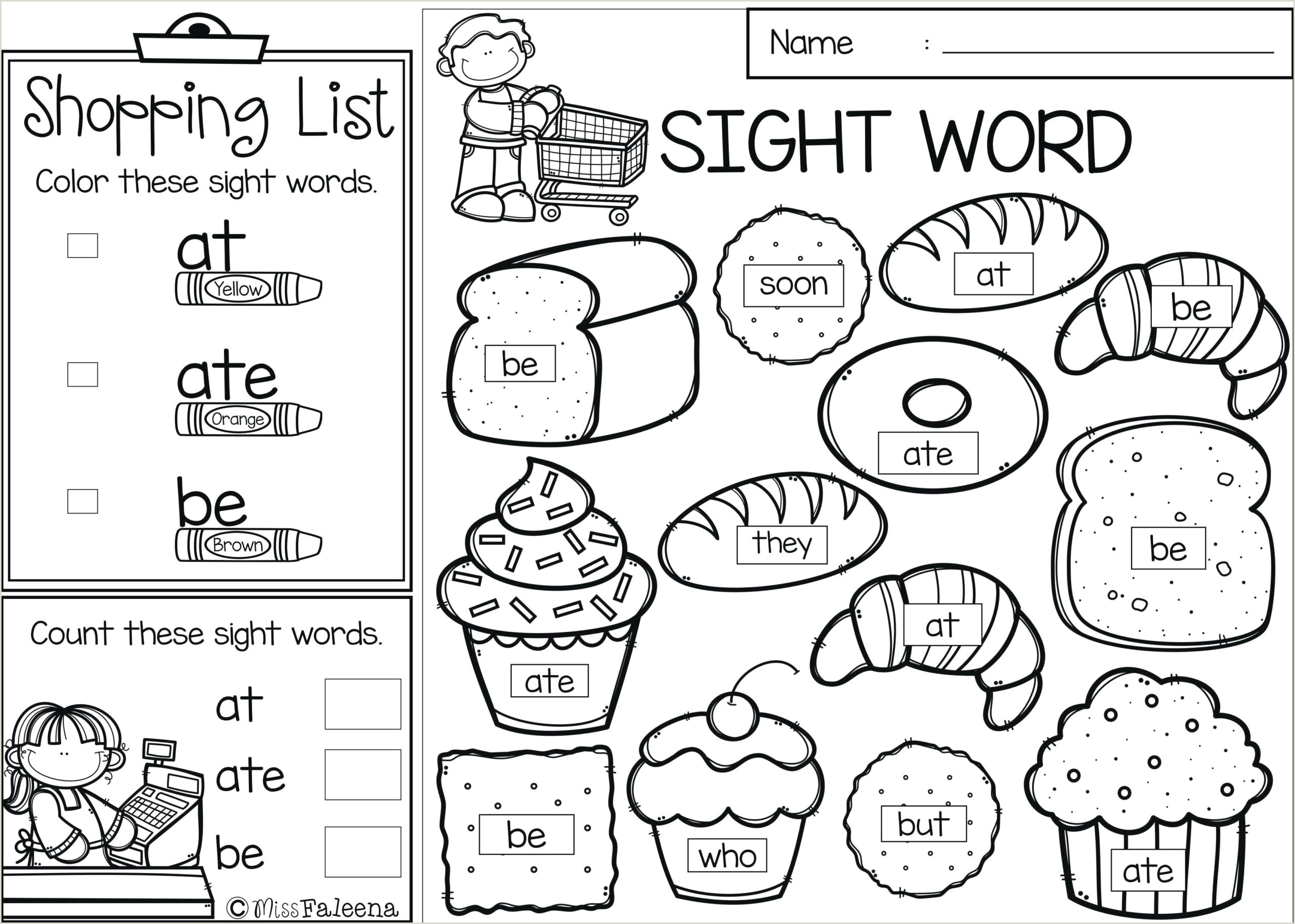Free Reading And Writing Worksheets For Kindergarten