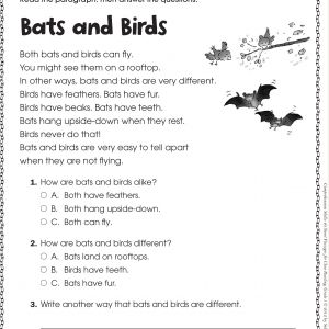 Free Reading Comprehension for Kindergarten