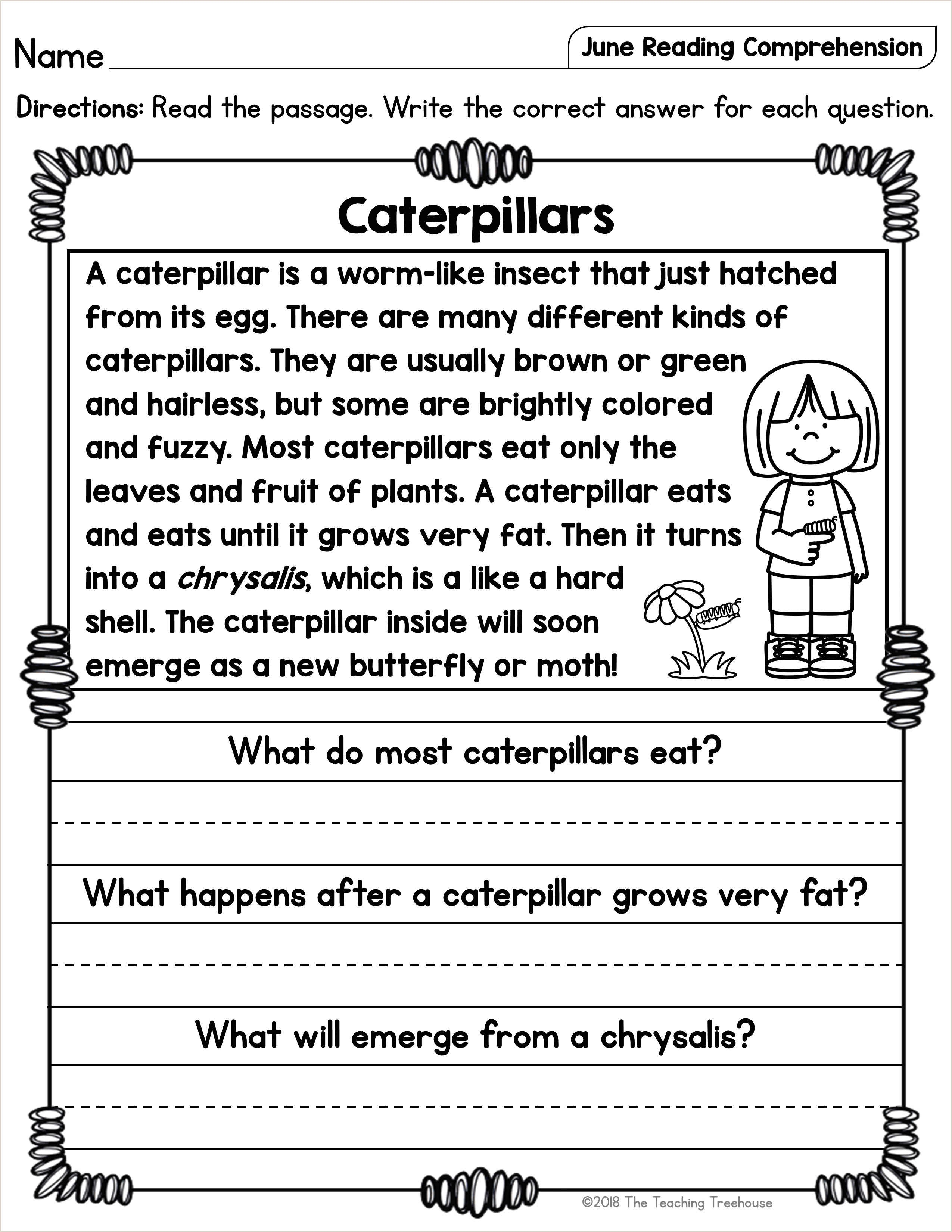 Free Reading Comprehension For Kindergarten