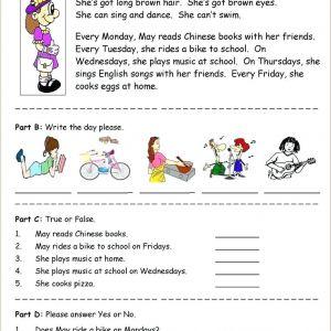 Free Reading Comprehension Worksheets for Kindergarten