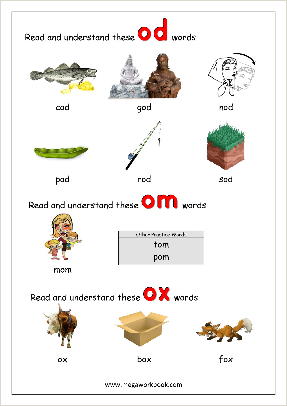 Free Reading Worksheets For Kindergarten