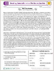 Free Reading Worksheets for Kindergarten Students