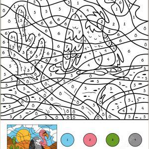 Free Summer Color by Number Worksheets