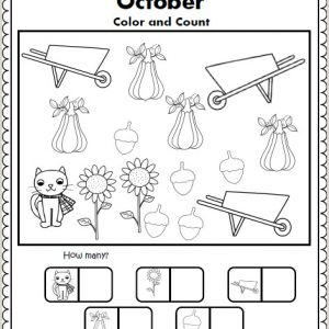 Free Summer Color by Number Worksheets