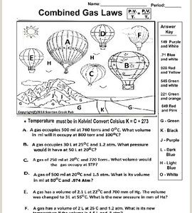 Gas Laws Color by Number Worksheet Answers