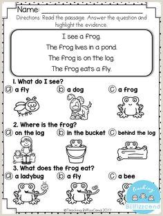 Guided Reading Worksheets Kindergarten