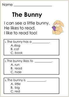 Guided Reading Worksheets Kindergarten