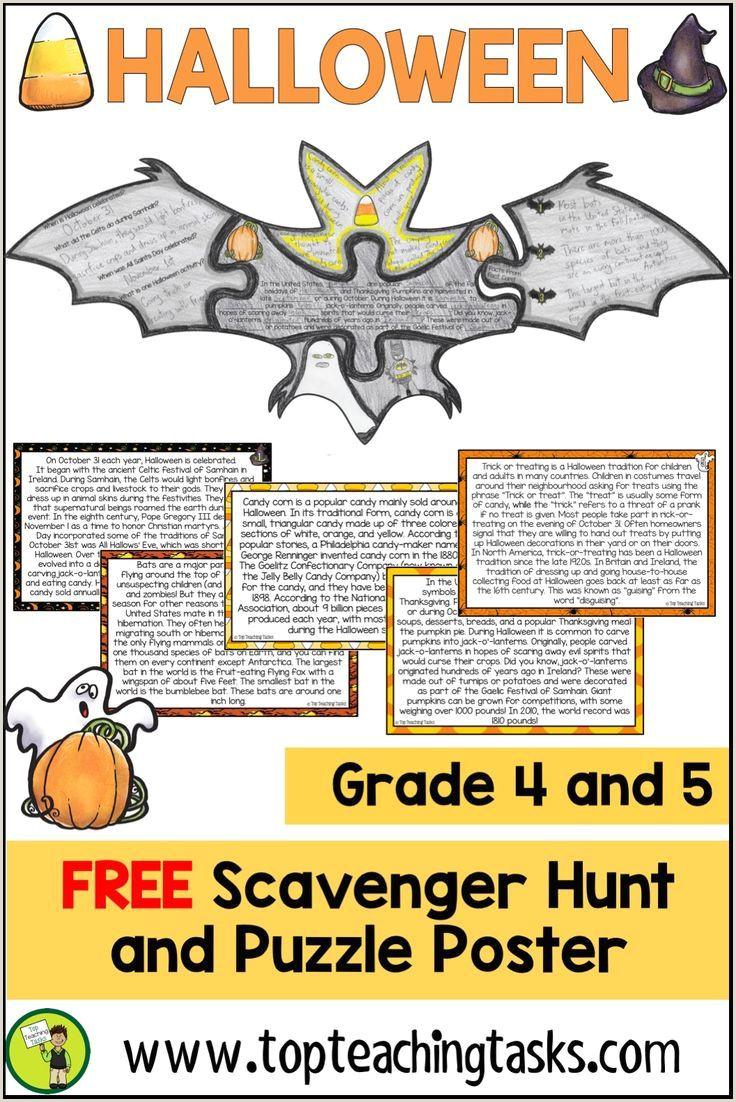 Halloween Kindergarten Reading Worksheets