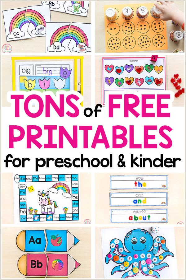 Junior Kindergarten Reading Worksheets