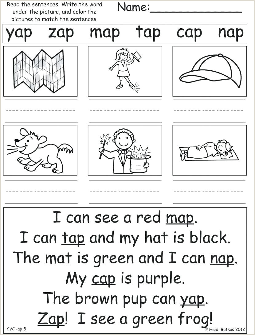 Junior Kindergarten Reading Worksheets