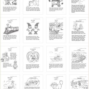 Kindergarten and 1st Grade Reading Comprehension Worksheets