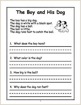 Kindergarten and 1st Grade Reading Comprehension Worksheets