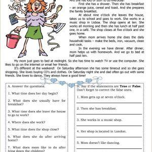 Kindergarten Esl Reading Worksheets