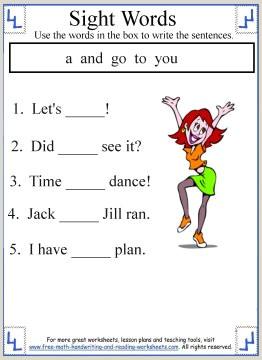 Kindergarten Math And Reading Worksheets