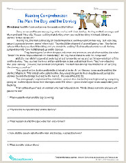 Kindergarten Reading and Comprehension Worksheets