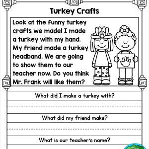 Kindergarten Reading Comprehension Packet Pdf