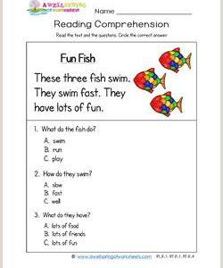 Kindergarten Reading Comprehension Passages Pdf
