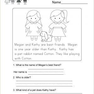 Kindergarten Reading Comprehension Workbook Pdf