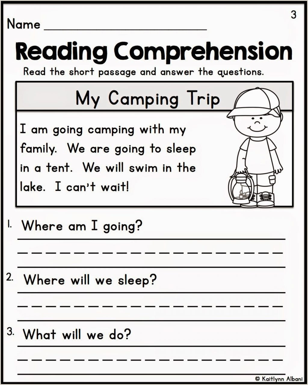 Kindergarten Reading Comprehension Workbook Pdf