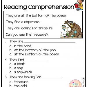 Kindergarten Reading Comprehension Worksheet Pdf