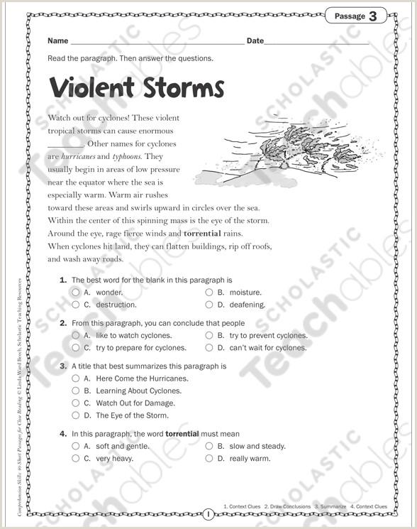 Kindergarten Reading Comprehension Worksheets Multiple Choice