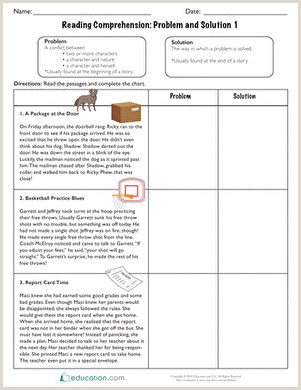 Kindergarten Reading Comprehension Worksheets Multiple Choice Pdf
