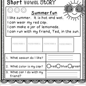 Kindergarten Reading Comprehension Worksheets Printable