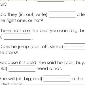Kindergarten Reading Level Worksheets