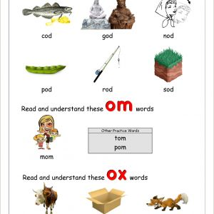 Kindergarten Reading Phonics Worksheets