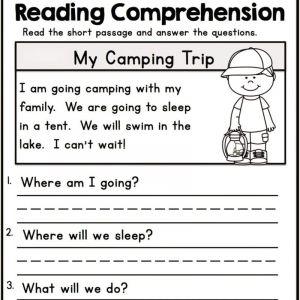 Kindergarten Reading Printable Worksheets Pdf