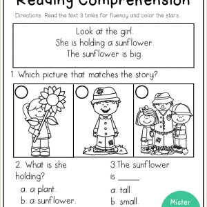 Kindergarten Reading Skills Worksheets