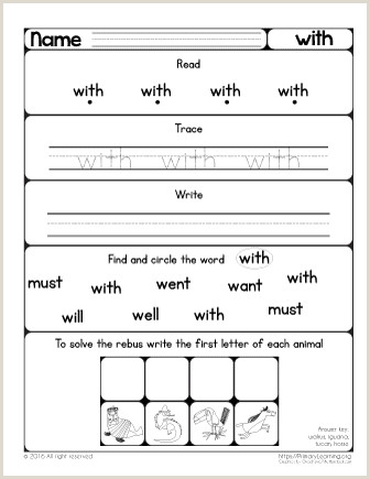 Kindergarten Reading Story Worksheets
