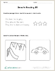 Kindergarten Reading Worksheets Free