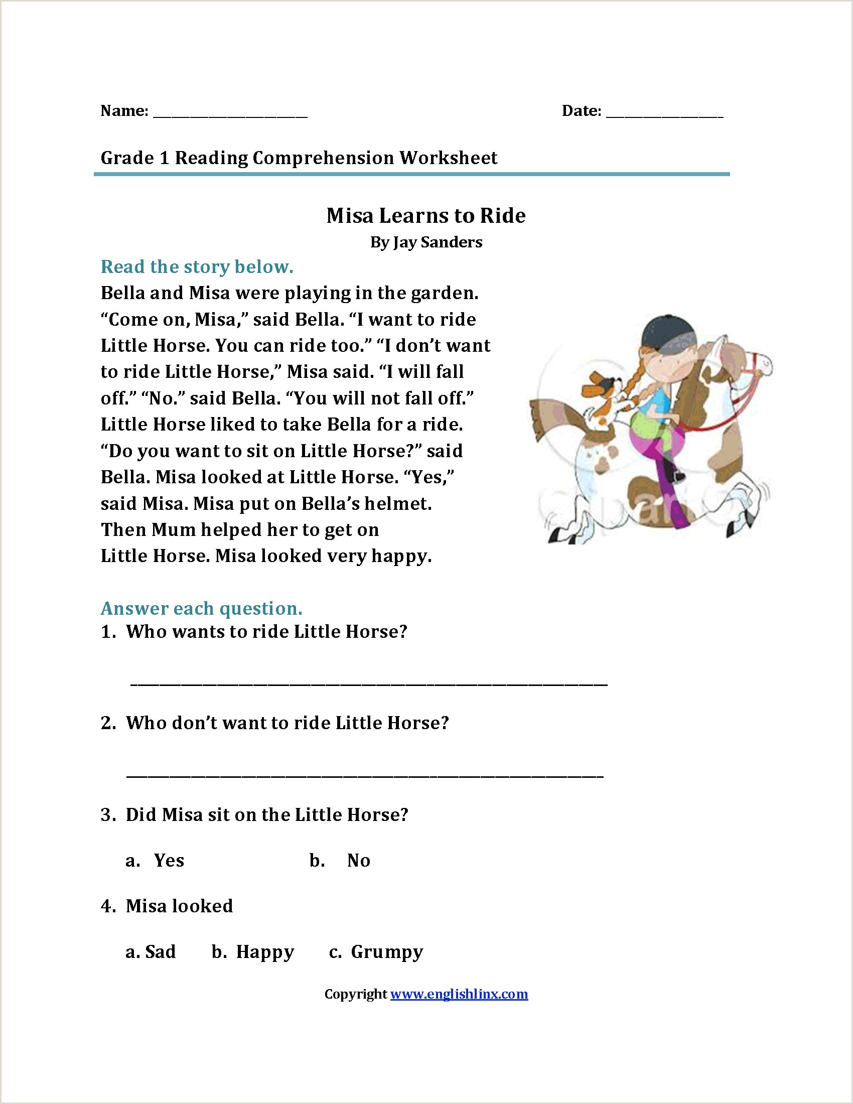 Kindergarten Reading Worksheets Free Printable