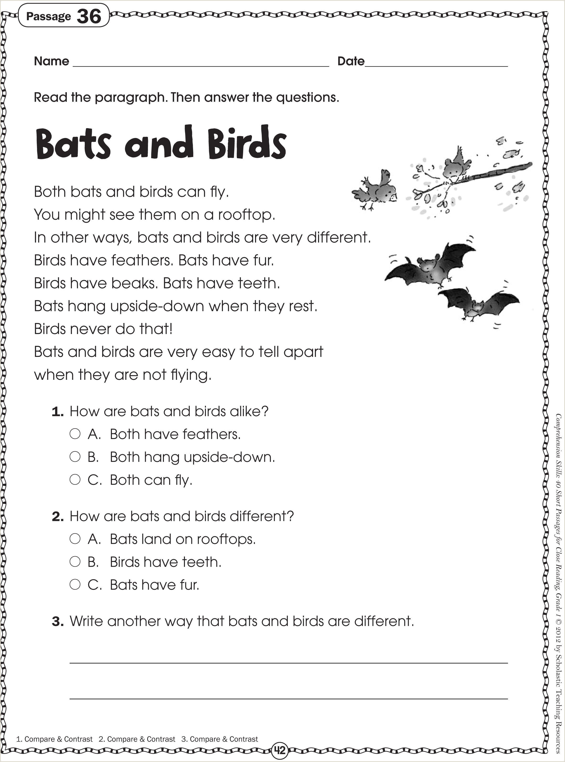 Kindergarten Reading Worksheets Free Printables