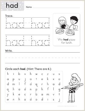 Kindergarten Reading Worksheets Sight Words