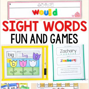 Kindergarten Reading Worksheets Sight Words