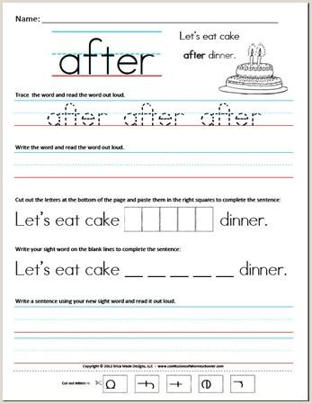 Kindergarten Reading Worksheets Sight Words Pdf