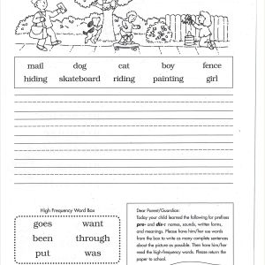 Kindergarten Reading Worksheets Sight Words Pdf