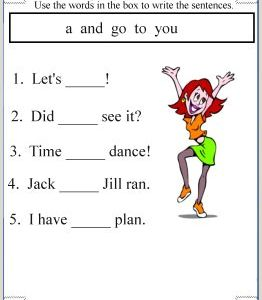 Kindergarten Reading Worksheets to Print