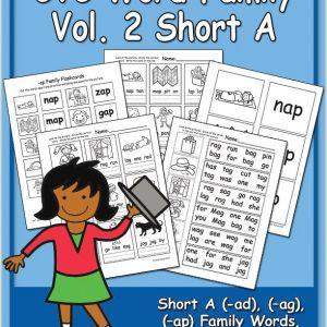 Kindergarten Reading Worksheets Word Families