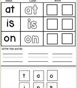 Kindergarten Reading Writing Worksheets