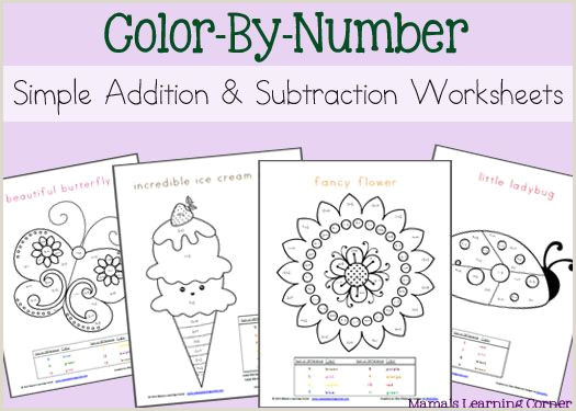 Mixed Addition And Subtraction Color By Number Worksheets