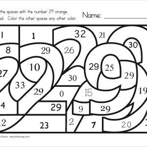 Multiplication Color by Number Worksheets Grade 3